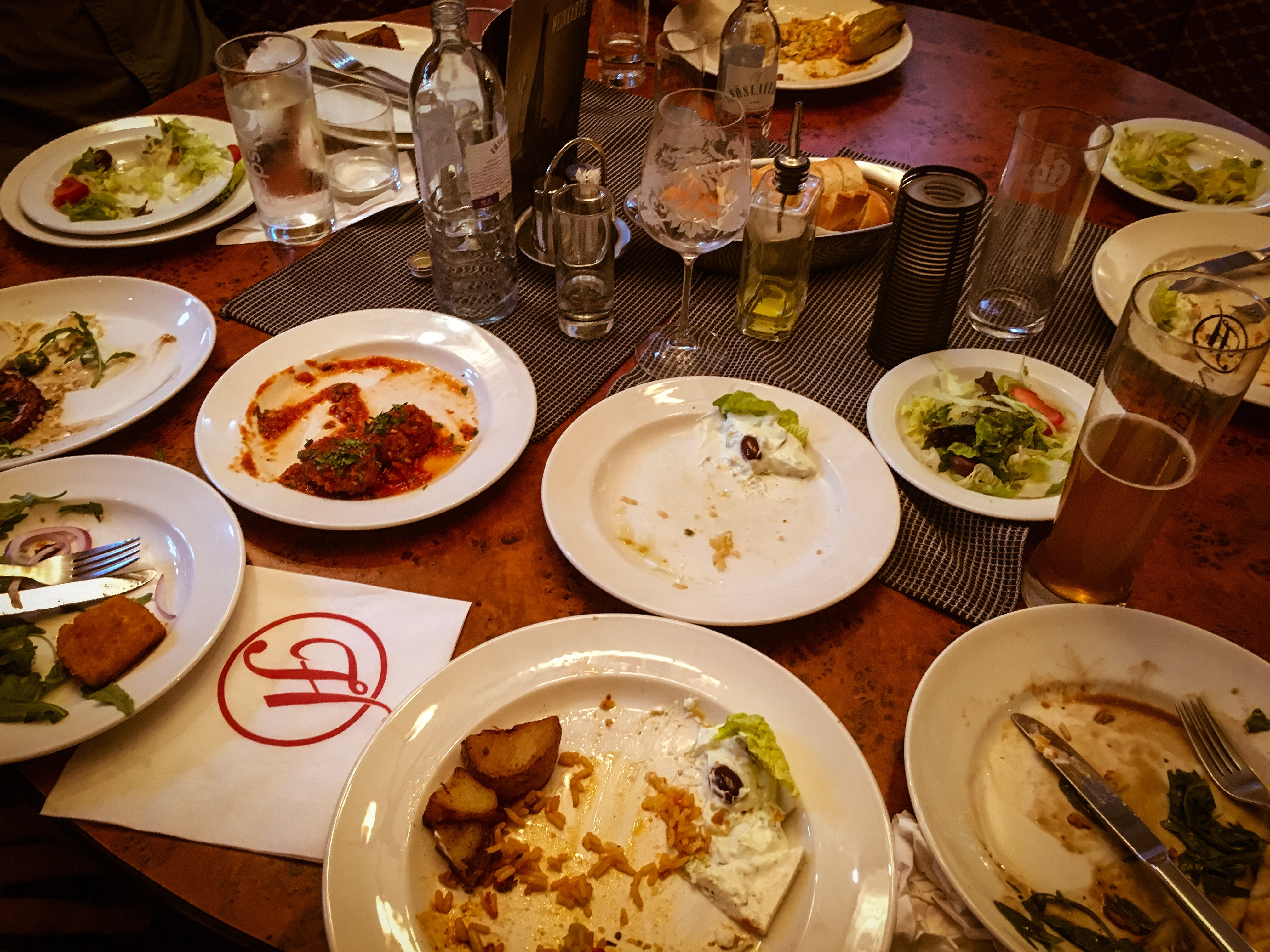 About half the menu at a greek restaurant in vienna for About greek cuisine